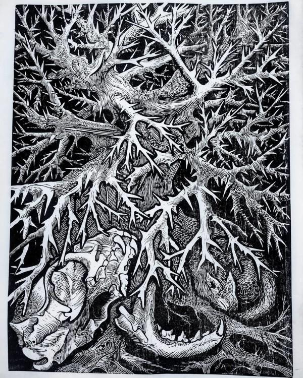 """""""l'hiver""""-xylographie-60x45cm-2020"""
