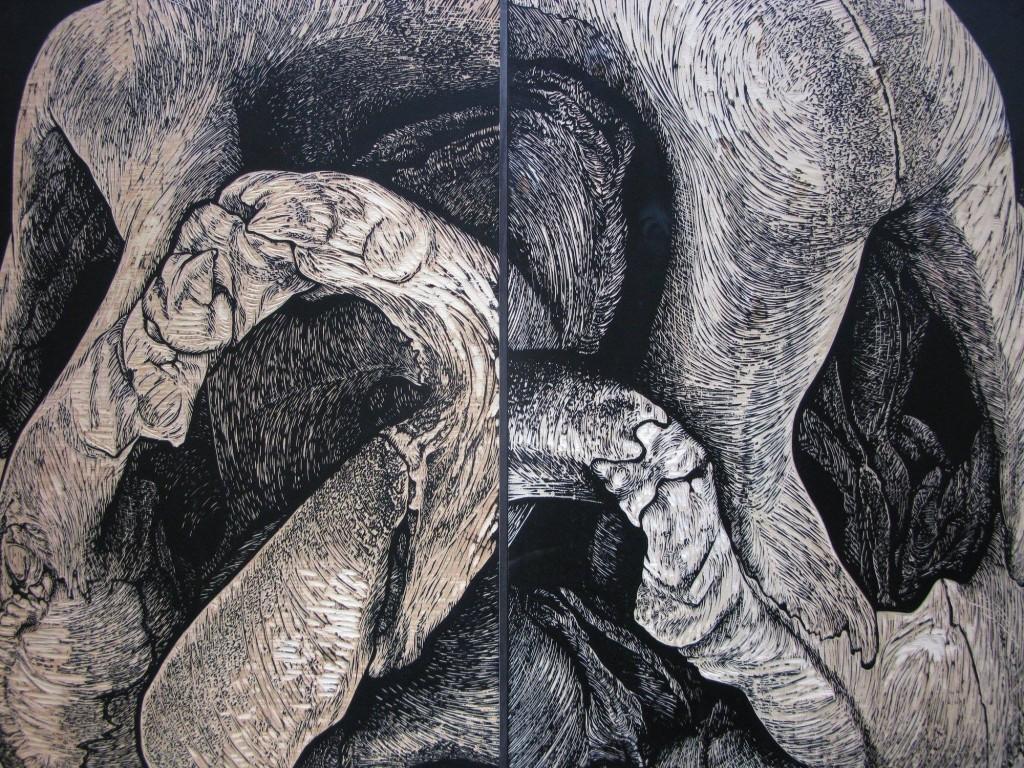 Lamentations - xylographie-92x143cm